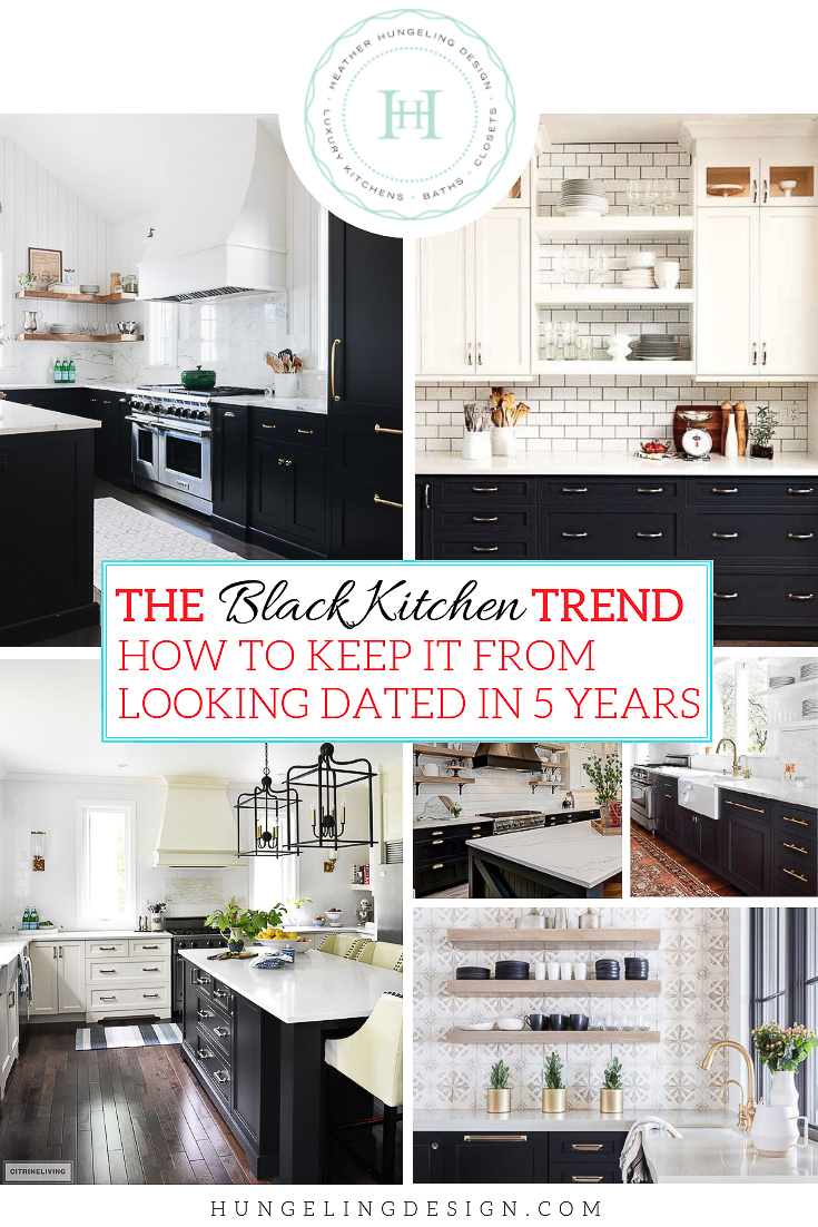 "The  black kitchen cabinets  trend is still going strong. I'm hoping that it's going to have some staying power because it's such a lovely foil to the most classic color of all time...white. It adds depth to any room it's in and looks fantastic with lots of different wood tones. However, the ""wall to wall"" black kitchen cabinet look that is so popular now, will not last. You need a plan of action to implement this trend that meshes well with your wallet and your sensibilities(…)  #kitchentrends, #kitchendesign, #luxurykitchens, #blackkitchens"