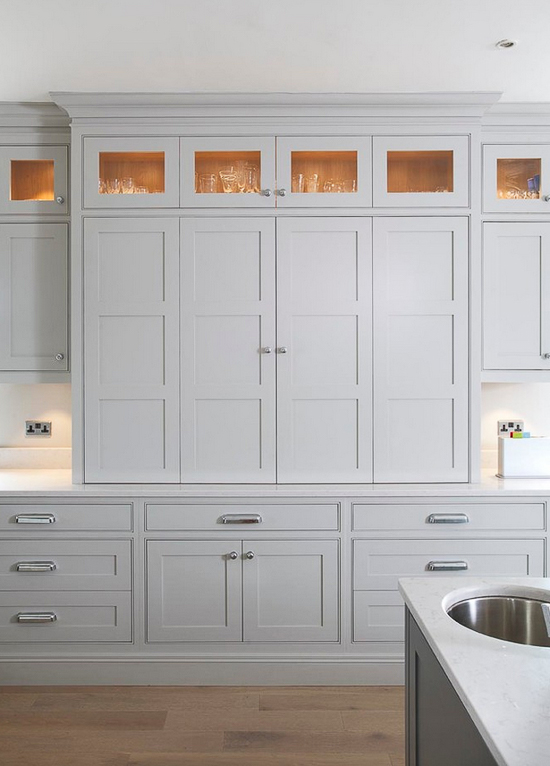 Multiple panel doors provide lots of character to a kitchen. Use them sparingly with great effect. Discover other ideas for infusing interest into your kitchen with unique cabinet door styles.