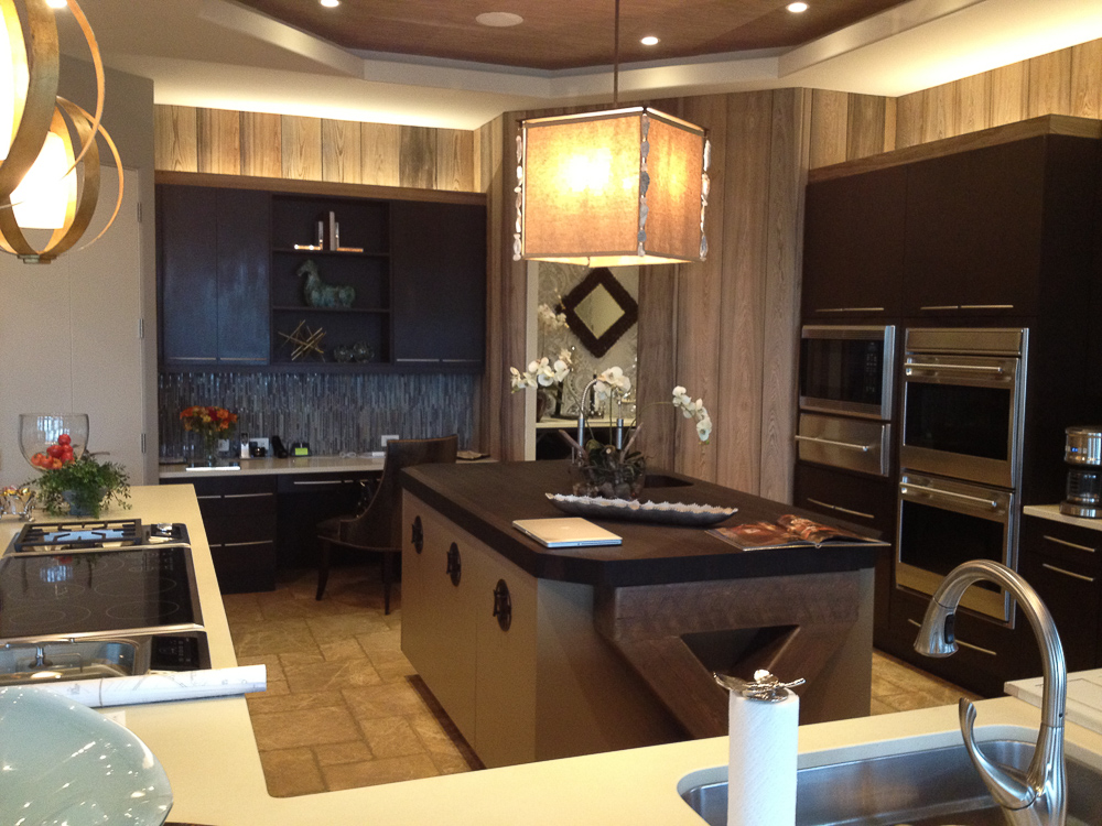 """Another """"Before"""" Image. Notice how the only door to this kitchen is from the butler's pantry? Discover how I solved this room's flow problems by creating a new, double island kitchen with a new entrance."""
