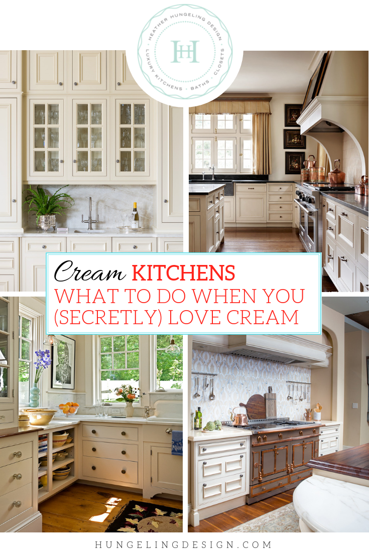 Image of: What To Do When You Secretly Love Cream Kitchen Cabinets Heather Hungeling Design