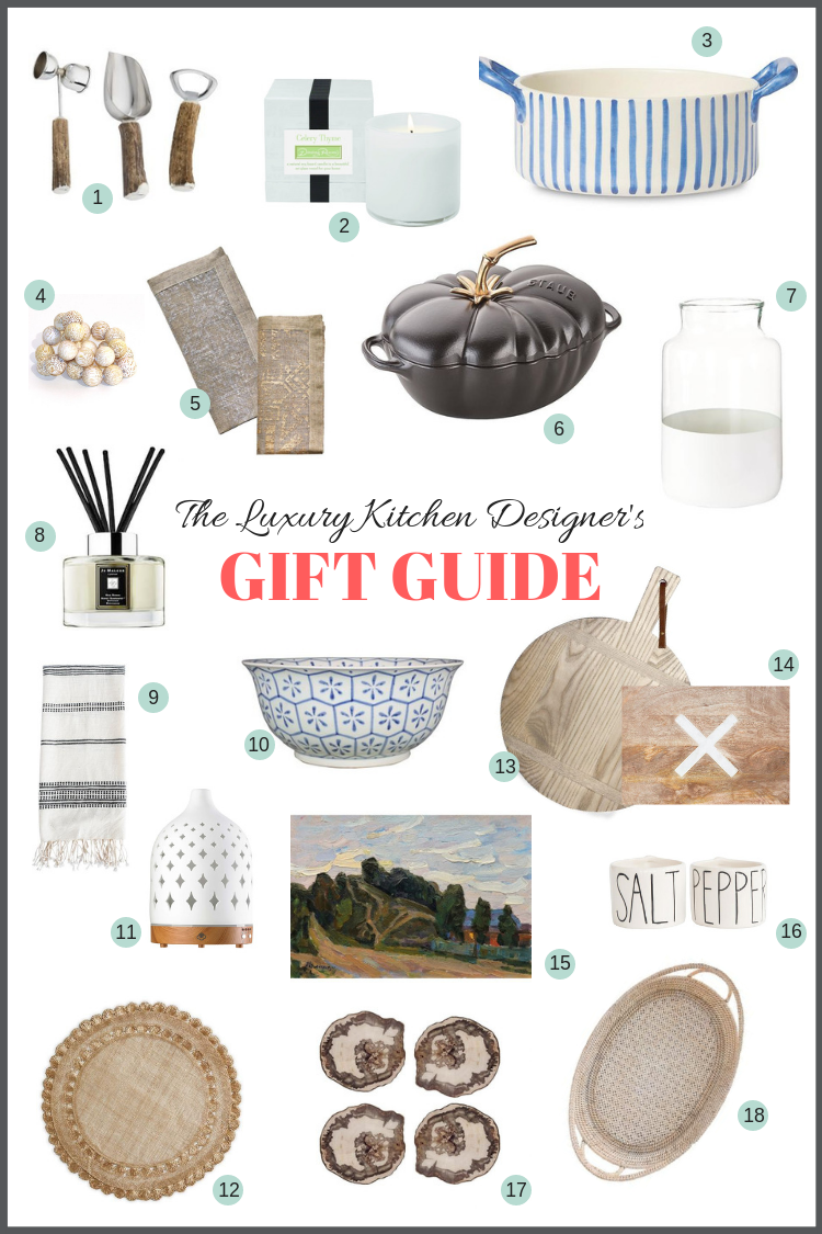 If you've got someone in your life who really appreciates pretty and thoughtful gift ideas for the kitchen, then this holiday shopping guide is for you.  #giftideas, #homedecoraccessories