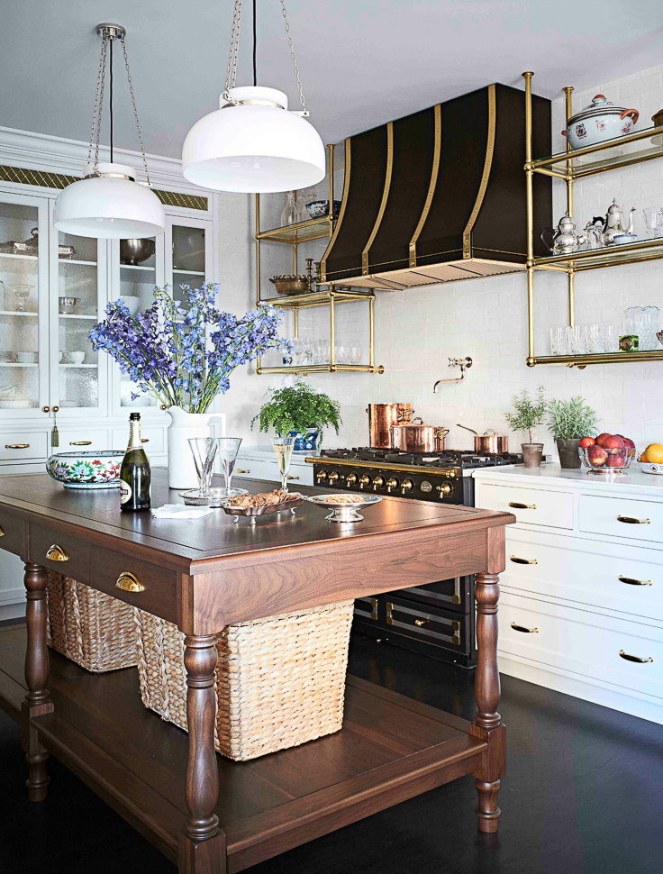 Freestanding - or Open islands are also trending in 2019. Along with a love of airy, open wall shelving, people are also craving a more open look to the lower cabinetry as well - particularly the island.  Kitchen Trends 2019 . #kitchentrends, #luxurykitchens, #kitchendesignideas