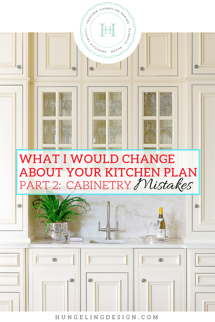 In Part 2 of this 3-part series, I'm sharing some of the top mistakes people make with their kitchen cabinetry design. Follow my advice in this post and I guarantee you'll have a better functioning (and looking) luxury kitchen than 95% of the kitchens out there! #kitchencabinetrydesign #luxurykitchendesigns, #clivechristian, #traditionalkitchens,