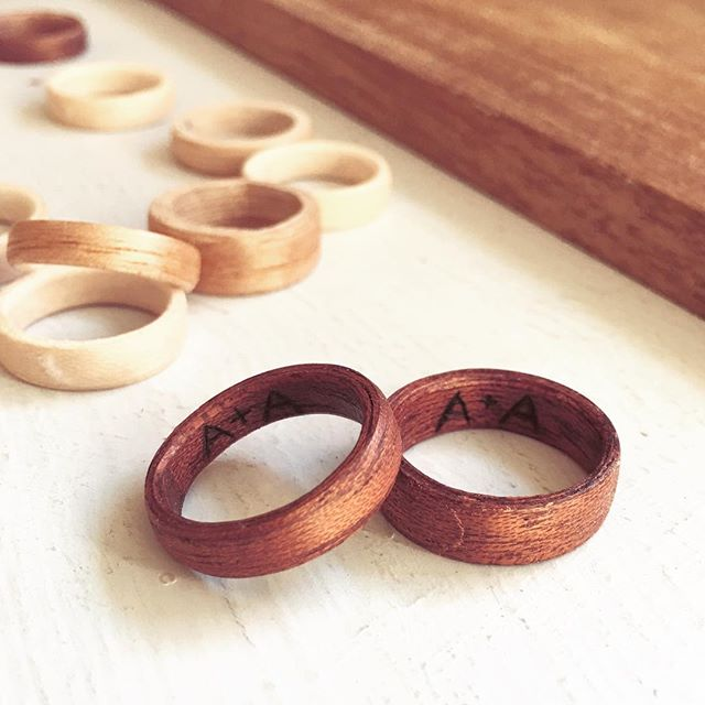 Throwback to a set of wedding bands I made this past week ❤️ Love them! . . . #etsy #etsyshop #etsyfinds #etsyseller #woodenring #wedding #weddingband #anniversary #5thanniversary #handmade #wooden #woodburning #pyrography #ladydryad #mahogany #bohochic #bohemian #bohostyle #hippie #hippiestyle #rusticwedding #woodlandwedding #barnwedding #couplegoals #currentlywearing #ootd #shoplocal #sandiego #shoppingaddict #shopaholic