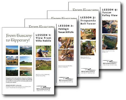 FIRST 4 VIDEO LESSONS WITH 4 COMPANION INSTRUCTIONAL WORKBOOKS ITALY