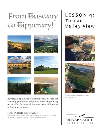 lesson 4:tuscan valley view - 1 VIDEO LESSON | 28:32 Min1 WORKBOOK | 31 Pages $97