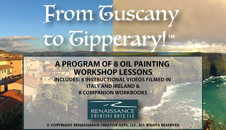 Art Instruction Program Filmed On Location In Some Of The Most Beautiful Places In Italy & Ireland