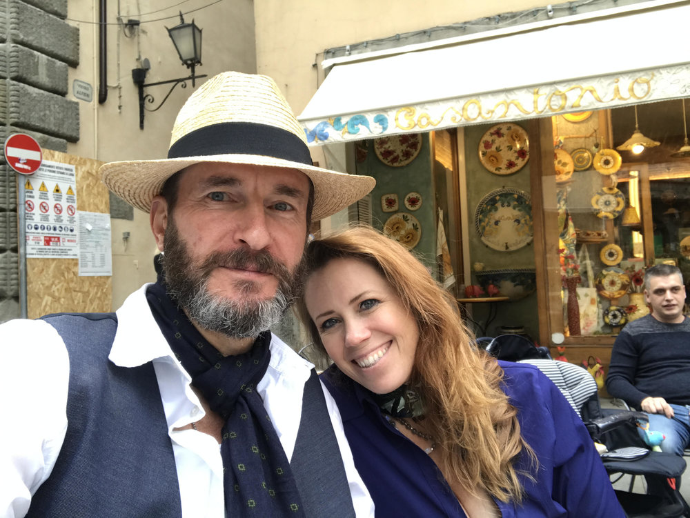 Jessica Henry with Daniel Hill Riedel in Tuscany, Italy