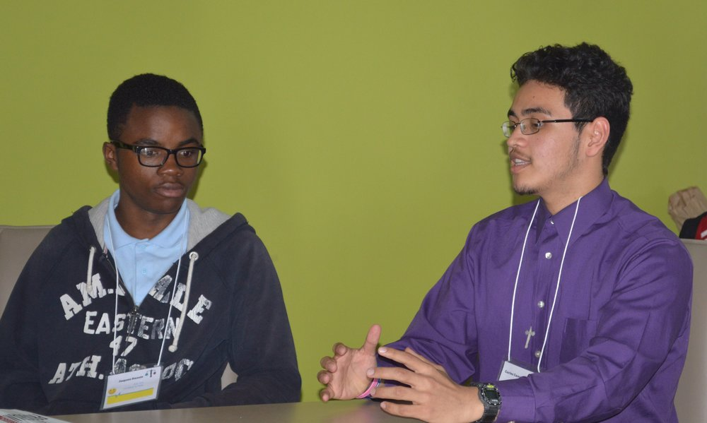 Student-led panel on food deserts. April 10, 2015.