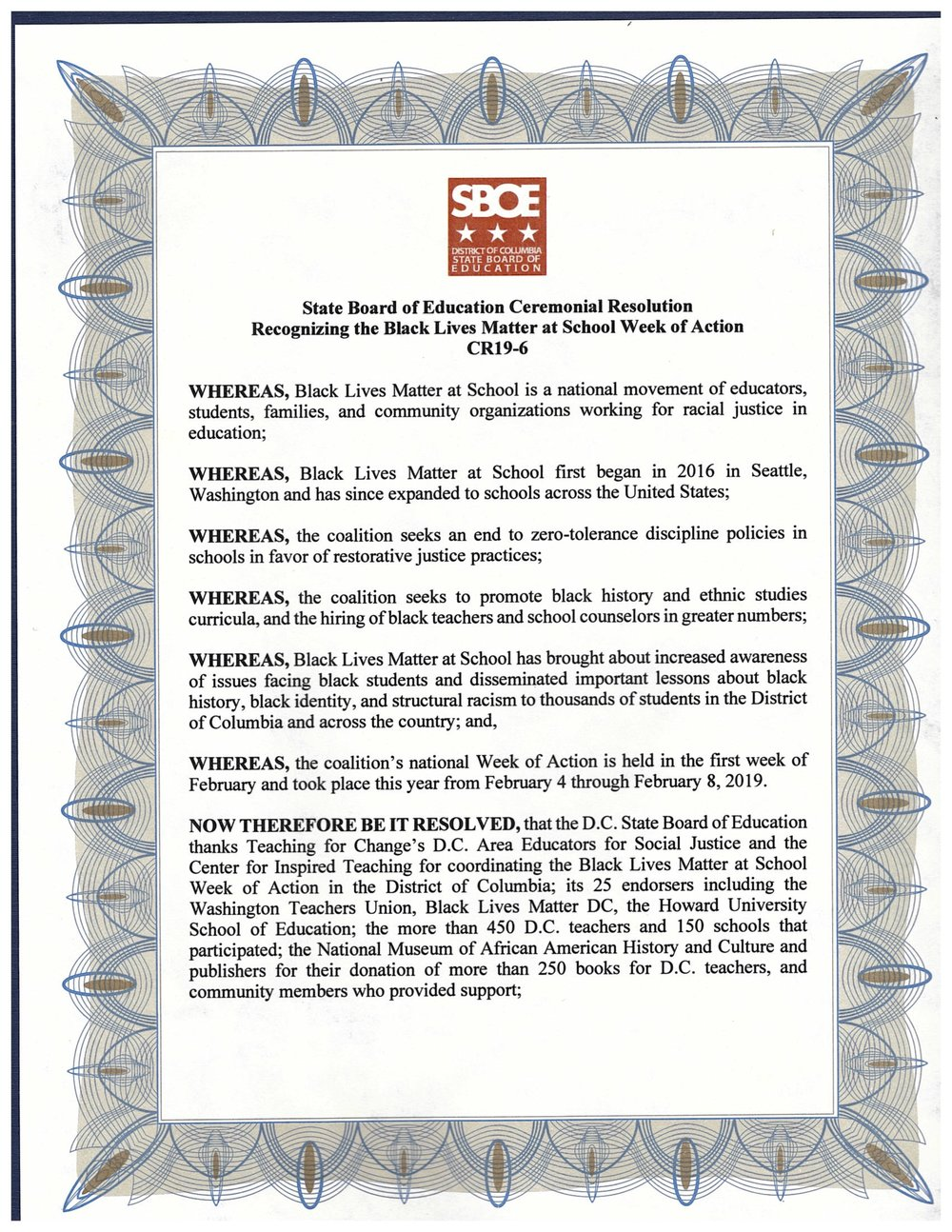 State Board of Education Ceremonial Resolution Recongizing the Black Lives Matter at School Week of Action _ Page 1.jpg