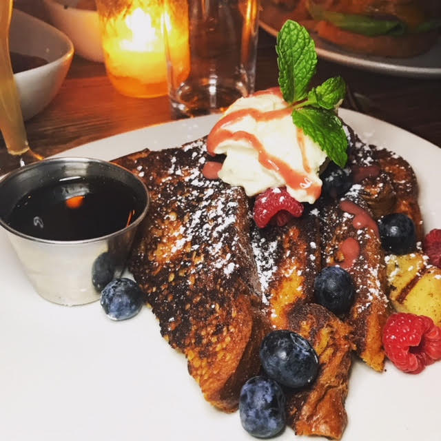 BERRY FRENCH TOAST - BLUEBERRIES, RASPBERRIES, AND MACARPONE