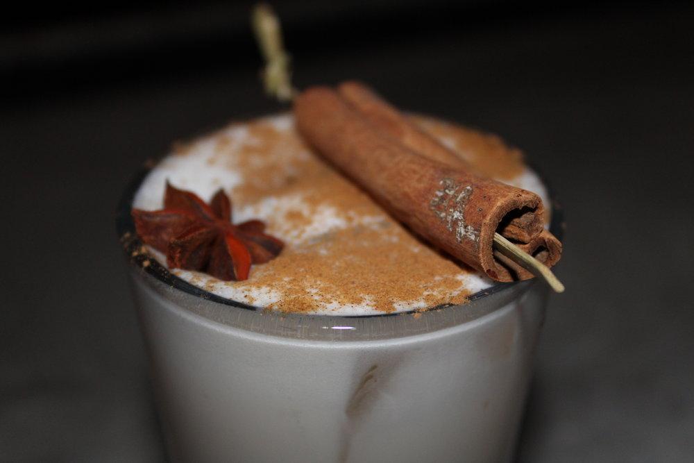 WINTER WONDERLAND - Jack Daniel's Fire, Rumchata, rice milk, cinnamon, anise star