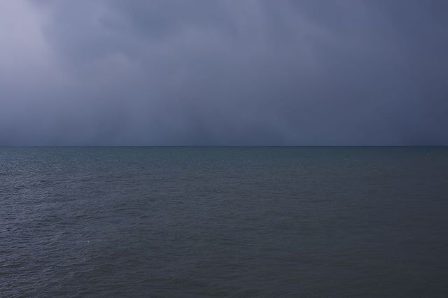 Bit of a #Rothko feeling to this. #sea #sky #horizon #boscombe #bournemouth
