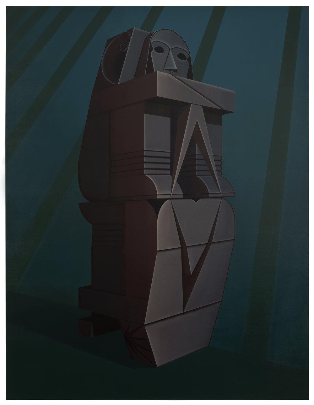 Dale Adcock, Validator, 2012, Oil on Linen; 260 x 199 cm.