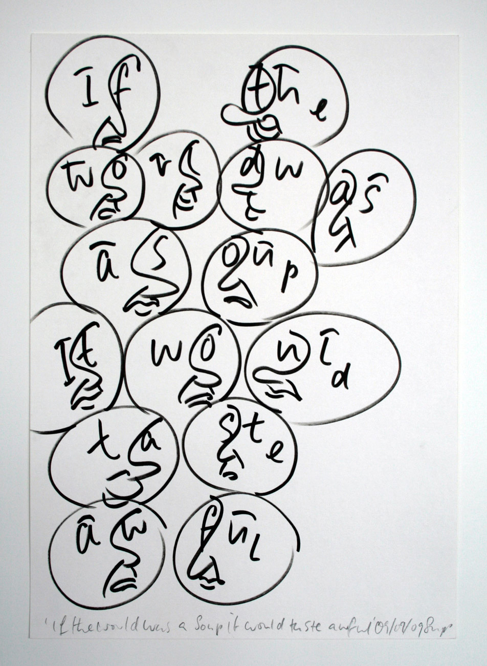 Sam Porritt, If The World Was A Soup It Would Taste Awful, 2009. Pigment Ink on Paper; 42 x 29 cm. Image courtesy of the artist.
