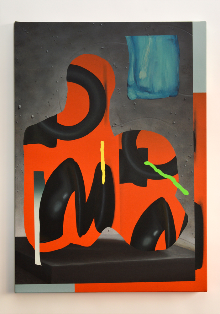 OO-MM, 2014. Acrylic on Canvas; 81 x 56.7 cm.