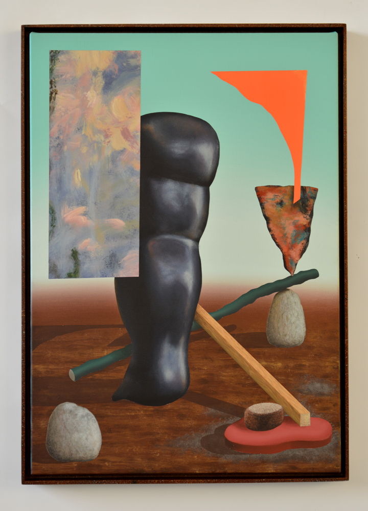 Field Trip III, 2013. Acrylic on Canvas in Custom Frame; 43.6 x 61 cm.