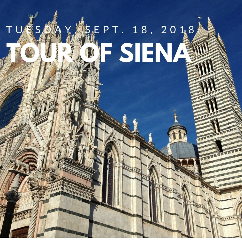 DAY 3 - Explore Siena, one of Italy's most beautiful medieval towns, in a guided tour that includes the heart of historic Siena, the Piazza del Campo.Then explore all that Siena has to offer on your own, whether visiting the Pinacoteca Nazionale di Siena to view masterpieces by Sienese artists; exploring the Piazza del Duomo with its cathedral, baptistery and crypt; or shopping along Siena's corso or high street.