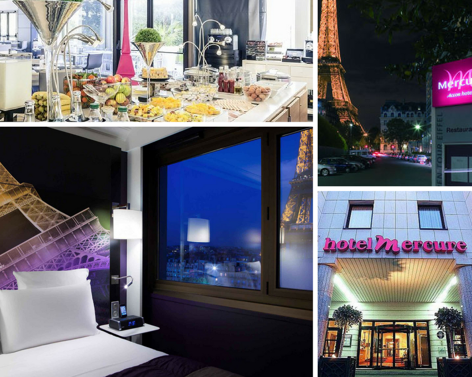 Mercure Paris Centre Eiffel Tower - A stone's throw from the Eiffel Tower and Trocadéro, the 4-star Mercure Paris Centre Eiffel Tower hotel is just waiting to be discovered in the heart of Paris. An ideal starting point for your visit, you will appreciate the proximity to public transport and our tips for visiting the City of Light. If you need a setting that combines pleasure and work on a business trip, discover our meeting rooms and relax in our fitness center with a view of the Eiffel Tower or on the restaurant terrace.The central location makes it easy to discover the attractions and shopping opportunities in Paris, thanks to the hotel's close proximity to public transport running day and night. Includes wi-fi and complimentary breakfast.