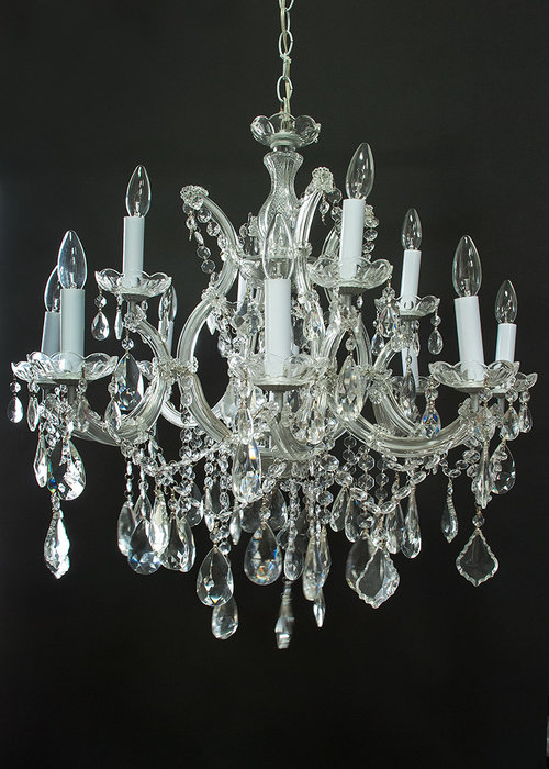 Lit 001 large glass crystal candle chandelier floral rents lit 001 large glass crystal candle chandelier aloadofball Image collections