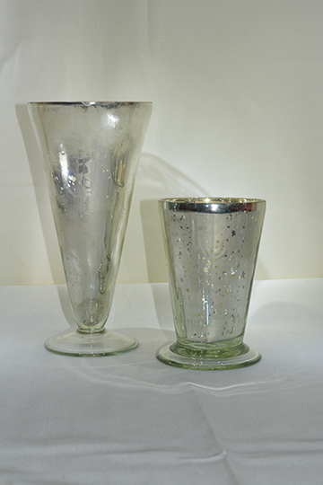 Low 097 Silver Mercury Julep Vases Floral Rents