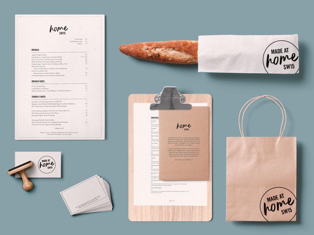Farrah & Pearce - Home SW15 Restaurant Design - Stationary, Menu and packaging.jpg