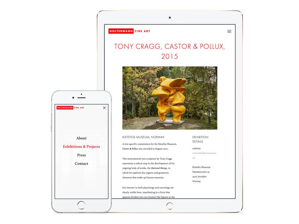 Farrah & Pearce - Holtermann Fine Art Website - iPhone and iPad