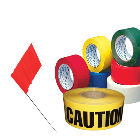 Tape - Caution tape, Caution flags & Flagging tape