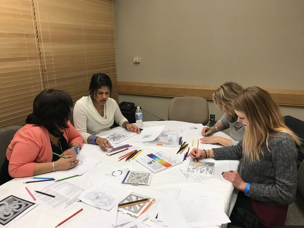 2018 therapeutic coloring workshop at advocate good shepherd health and fitness center barrington Il