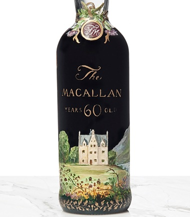The bottle is beautifully illustrated with Dillon's depiction of The Macallan's historic home, Easter Elchies House