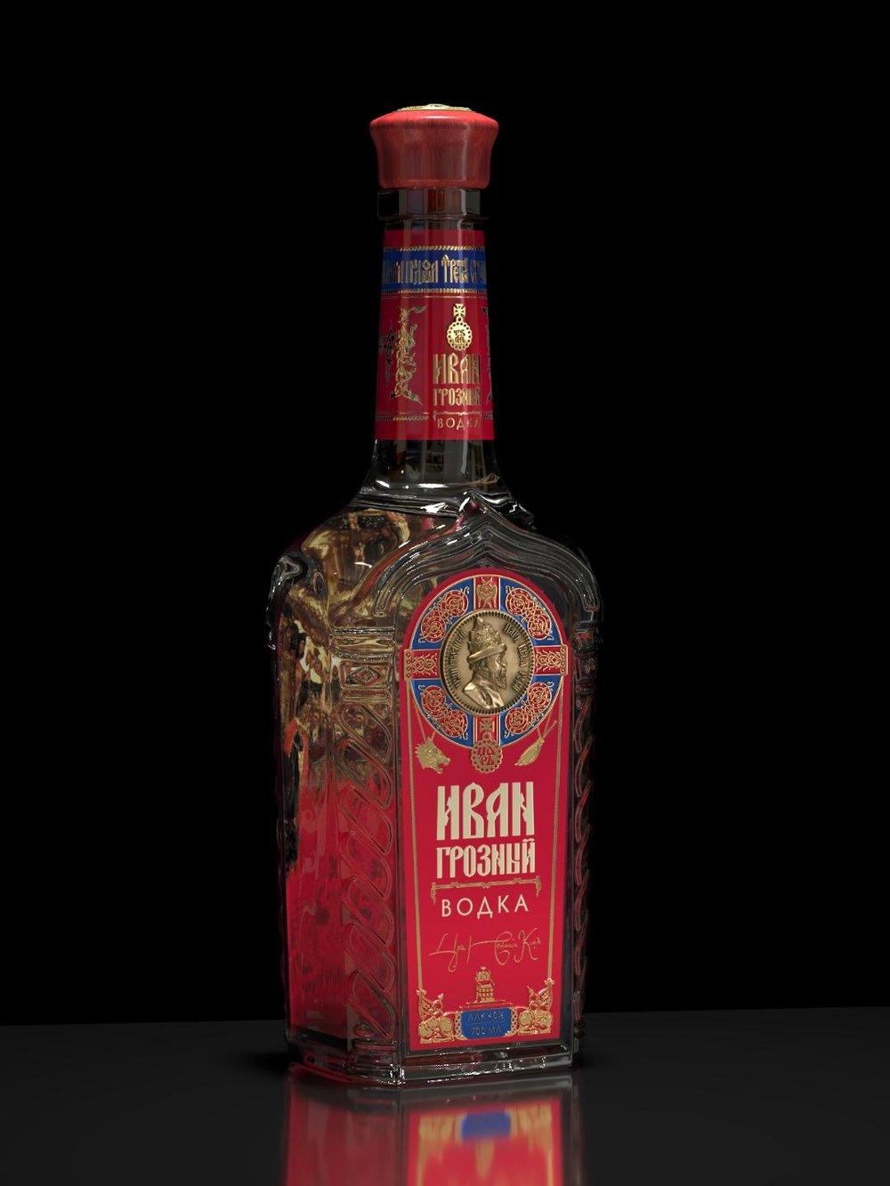 Ivan the Terrible vodka_bottle dark background_right view.jpg