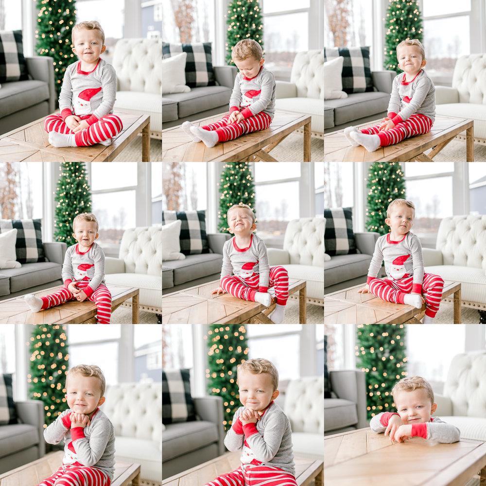 My Home for the Holiday's | Minimalism | Christmas Decor | 3 Year old Boy + Santa PJ's + Christmas Tree | Christmas Light Bokeh