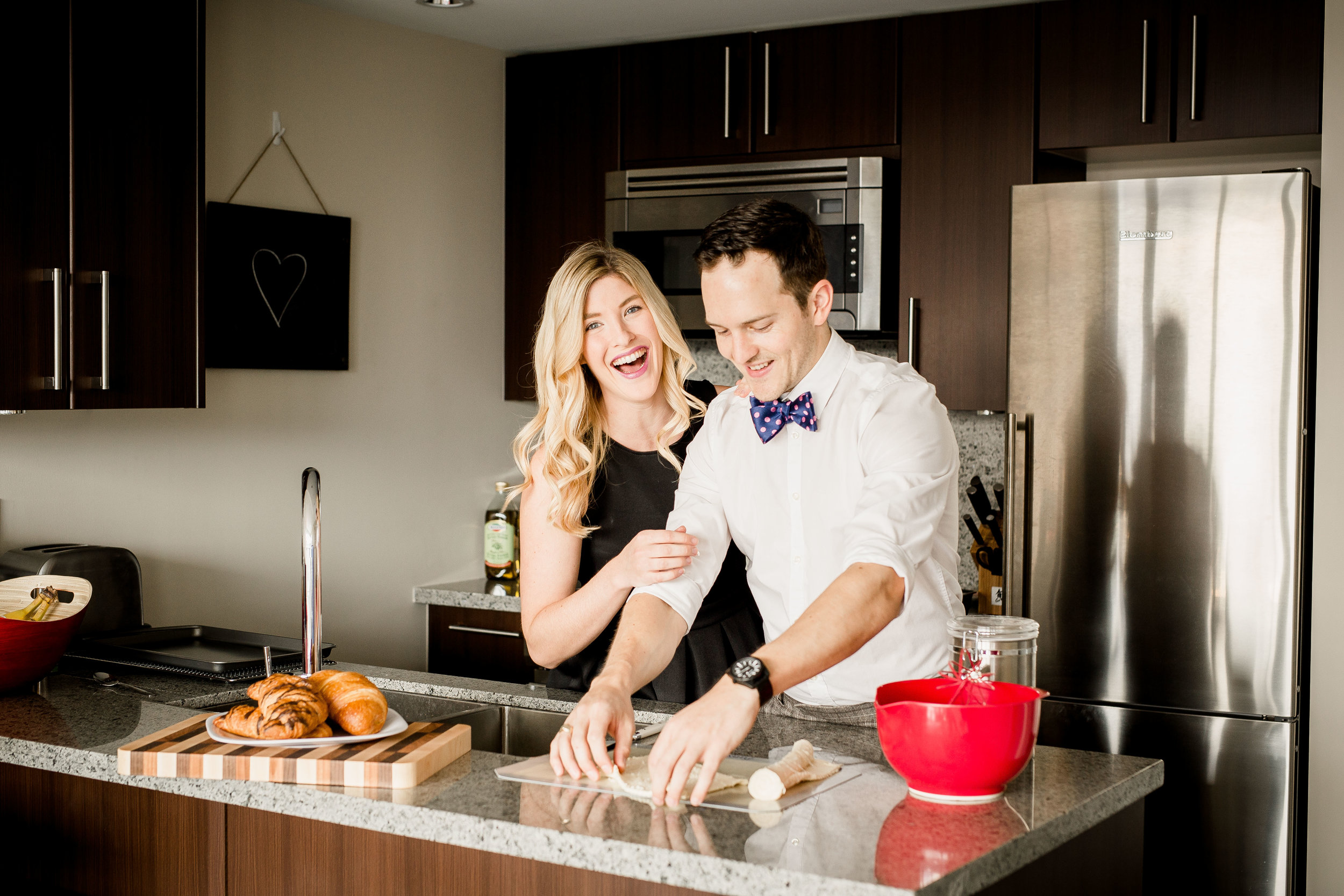 baking engagement session