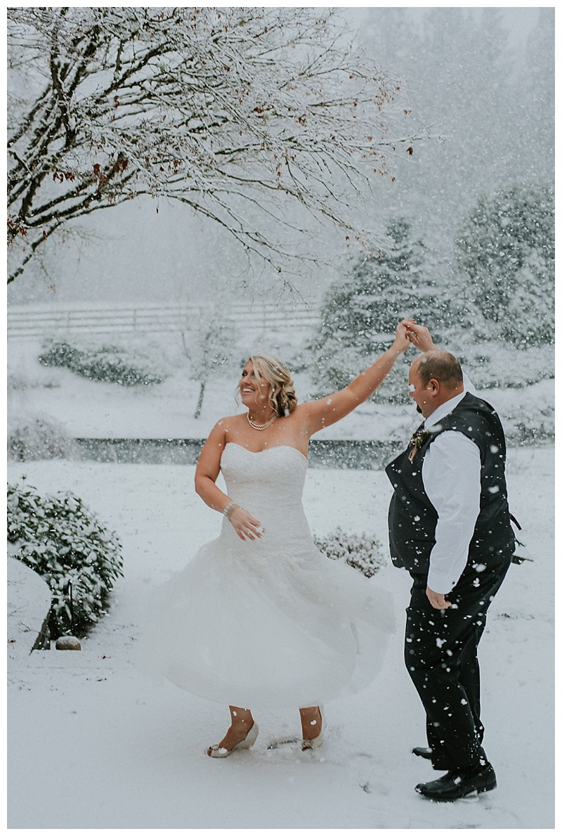 winter wedding maple ridge