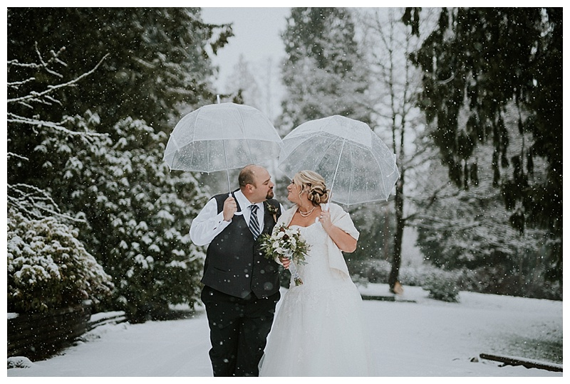 winter wedding langley