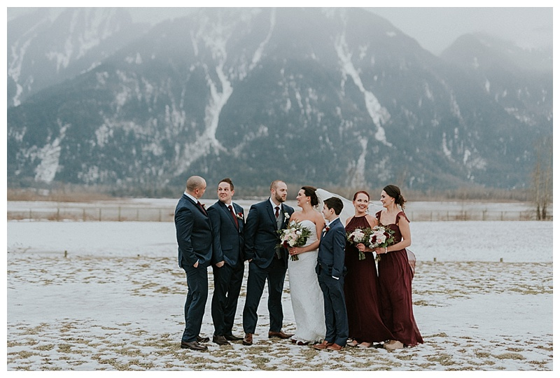 winter wedding at fraser river lodge