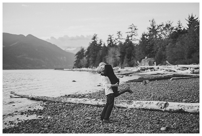 porteau cove engagement photos