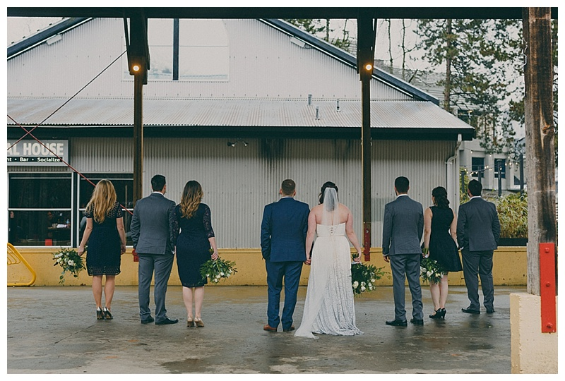granville island rainy day wedding photos