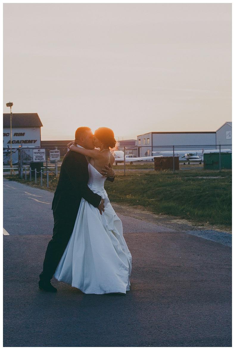 sky hangar wedding photos