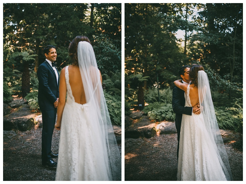 wedding at van dusen botanical garden