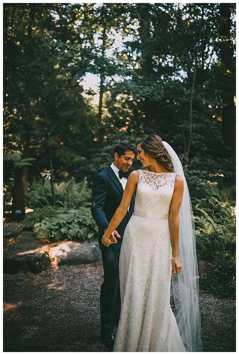 wedding at van dusen botanical garden