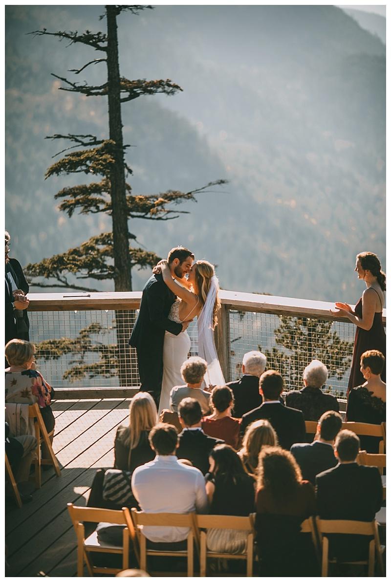 wedding at sea to sky gondola