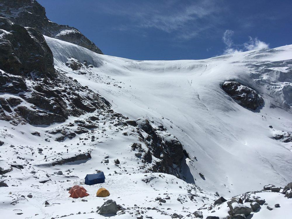 Getting onto Mera glacier