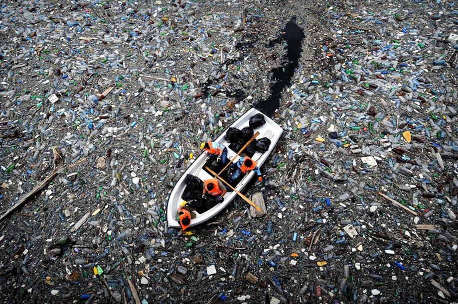 Krichim, Boat in plastic, April 25, 2009. Photo: Dimitar Dilkoff