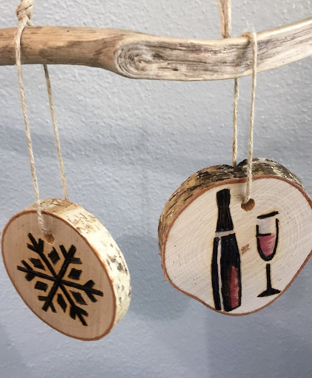 wood burned ornaments.JPG