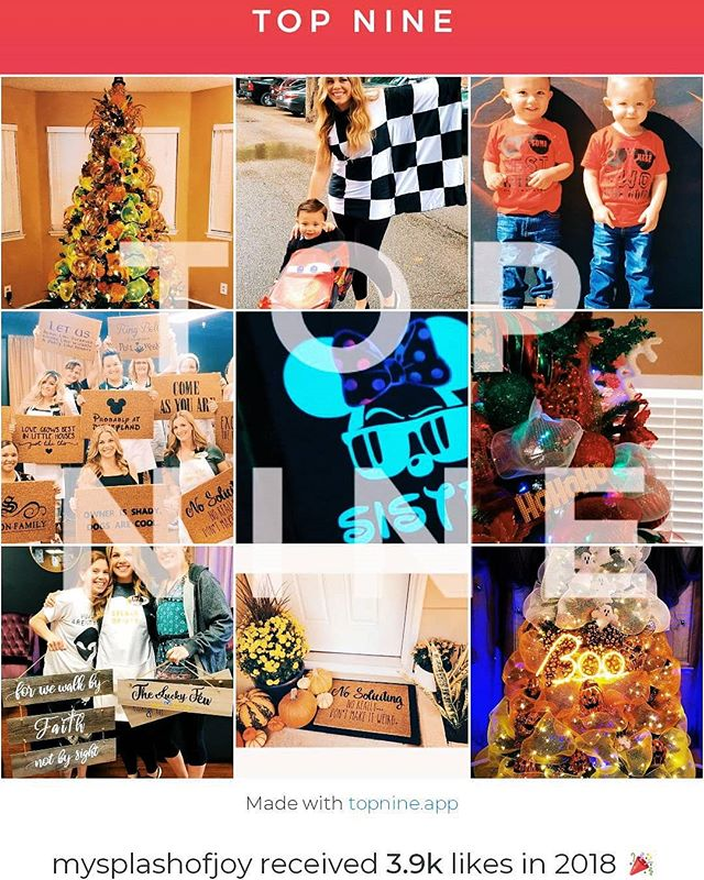 Wrapping up 2018 with my 💯th post to my IG page!! 🙌 As I look back on my top 9, I'm feeling SUPER grateful for all of the amazing support I've received this year with launching #splashofjoy! Lots of custom orders, amazing design inspiration and awesome craft workshops! 💛 WOW! 💛 Thank you all from the bottom of my heart! May you all receive THE BEST 2019 has to offer! Cheers!! 🍾✨🎉🍻 . . #bye2018 #top9 #100thpost #thankful #grateful #blessed #cheers #artistsofinstagram #mompreneur #craftyaf #instapic #instadaily #bestofinstagram #putting2018behindus #putting2018tobed #happynewyear #cheers