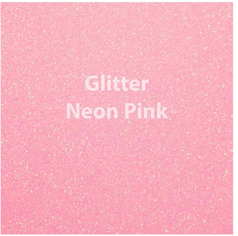 Neon Pink Glitter Vinyl