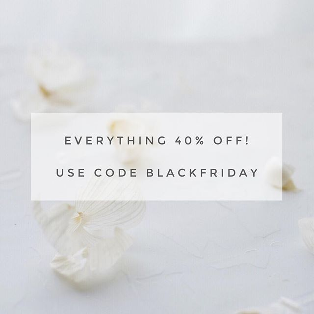 Hey guys! Did you hear?! Everything in the shop is 40% off until midnight tonight! Use code BLACKFRIDAY and grab all the images you need to instantly elevate your brand. Use them as fillers for Instagram or on your website or in your client pitches or for promotional materials and spend less time worrying about creating the perfect photo. We've got you!