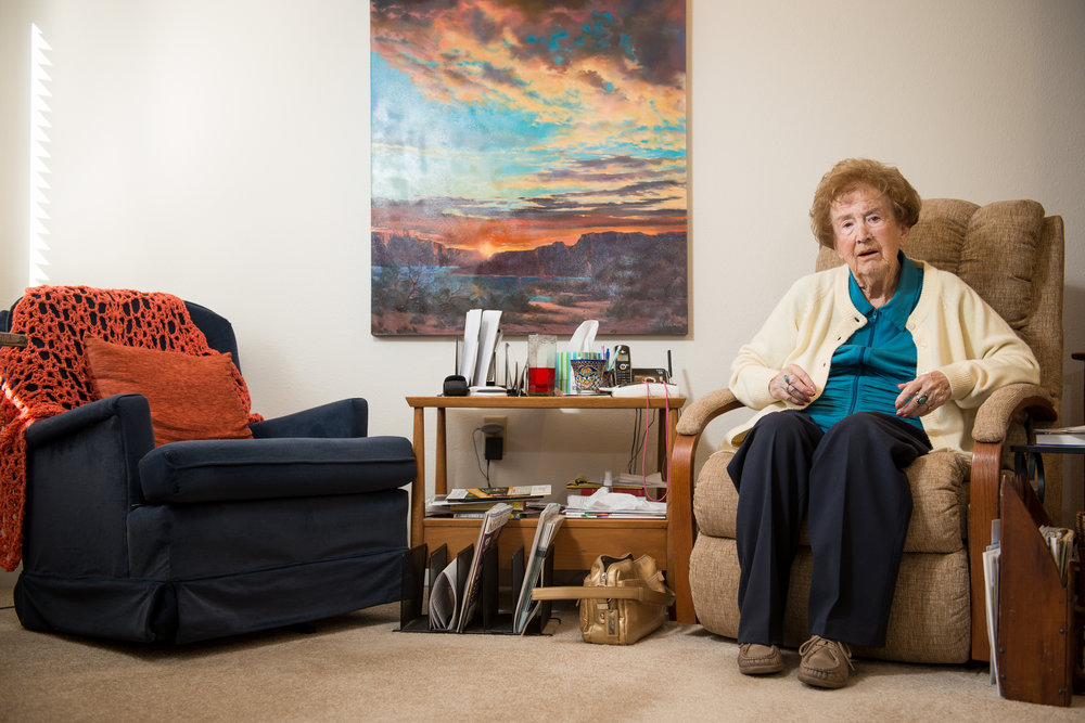 Doris Foster has pain in her knees caused by pinched nerves in her lower back. Foster, 94, takes drops of hemp oil on her tongue from a strain of marijuana with none of the psychoactive THC, but is high in Cannabidiol (CBD). This allows her to benefit from the pain relief of medical marijuana without experiencing the typical effects associated with a smoker's high. Foster lives in an independent living facility in Boulder, Colo., and has had her medical marijuana license for five months.