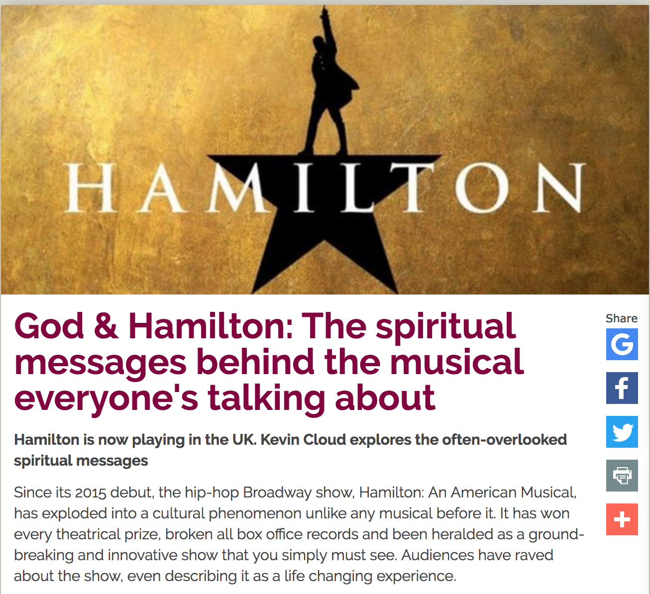 Premier Christianity — God & Hamilton
